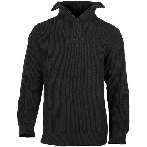 magasin britannique prix de gros professionnel Pull laine camionneur - Noir - 7
