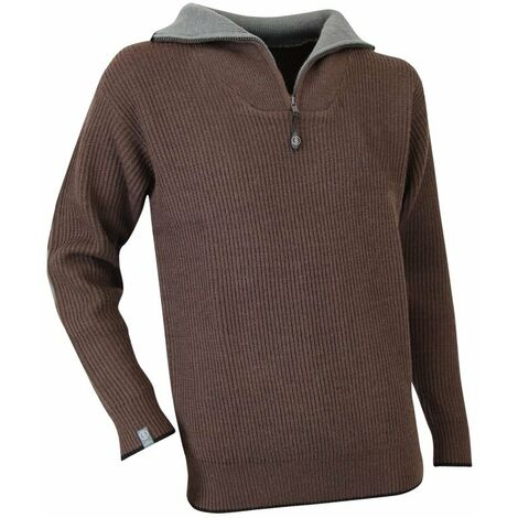 Pull col camionneur Cacao LMA Marron