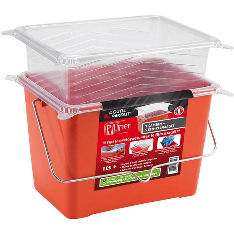 Pull Liner : Bac à peinture rectangulaire avec ses 5 éco-recharges. Plus de nettoyage et moins de pollution !