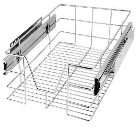 Pull Out Drawer Wire Basket Retrofit Organizer Kitchen Cabinet Wardrobe Runners