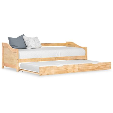 Pull-out Sofa Bed Frame Pinewood 90x200 cm