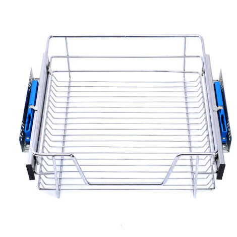 Pull Out Wire Basket Kitchen Cabinet Larder Organizer Cupboard Drawer, 30CM