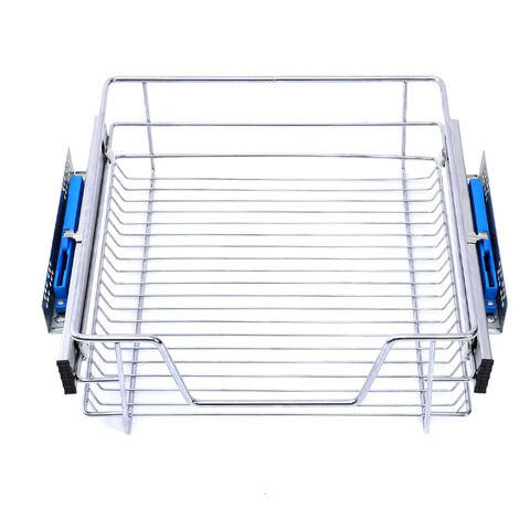 Pull Out Wire Basket Kitchen Cabinet Larder Organizer Cupboard Drawer, 60CM
