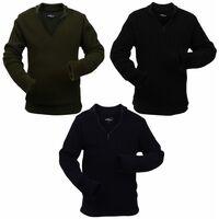 Pull-overs pour hommes 3 pcs Bleu marine/Vert d'armée/Noir XL