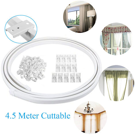(Pulleys + Mounting plates + Seals) Flexible Curtain Rails Nano Mute