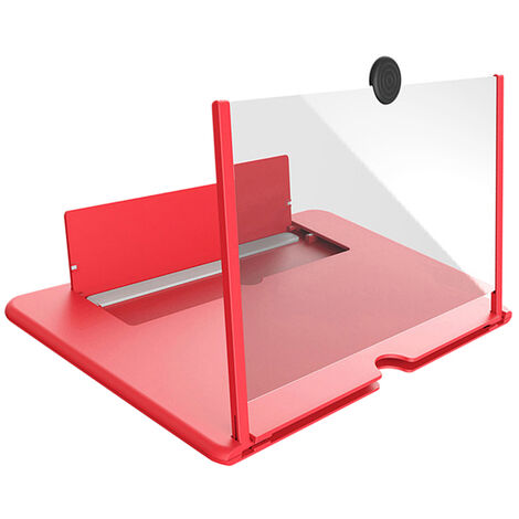 Pulling Type Mobile Phone Screen Amplifier 3D Effect Large Screen with Desk Holder Phone Screen Magnifying Folding