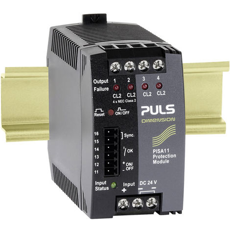 PULS PISA11.CLASS2 Dimension 4-Out DIN Rail Protect Module 24V DC 14.8A (4x 10A)