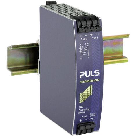 PULS YR2.DIODE Dimension DIN Rail Redundancy Module 2 x 10A Inputs 40A Output