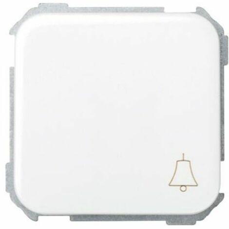 Pulsador con grabado campana blanco nieve Simon 31 Ref. 31650-30