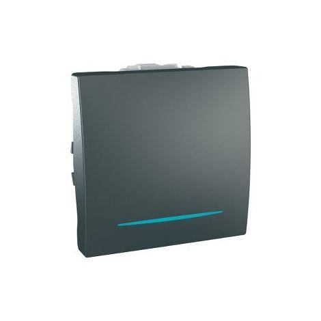Pulsador con LED de localizacion Grafito SCHNEIDER MGU3.206.12NL