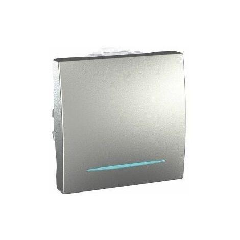 Pulsador con LED localizacion Aluminio SCHNEIDER MGU3.206.30NL