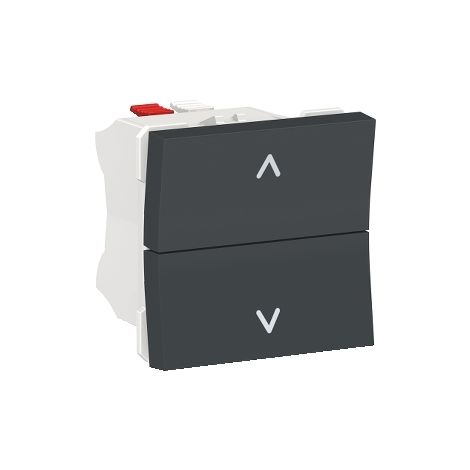 Pulsador de persianas Antracita SCHNEIDER ELECTRIC NU320754