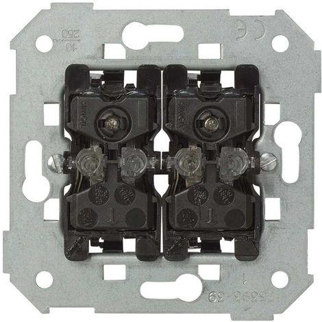 Pulsador doble 10A con lum. azul SIMON 7502393-039