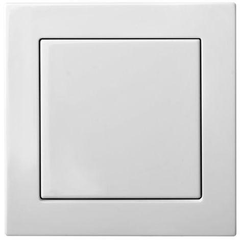 Pulsador empotrado, interruptor �nico, sin marco, blan