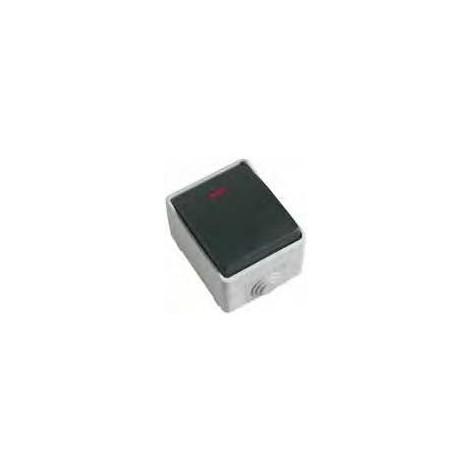 Pulsador estanco con LED sencillo IP54 3641 AMIG