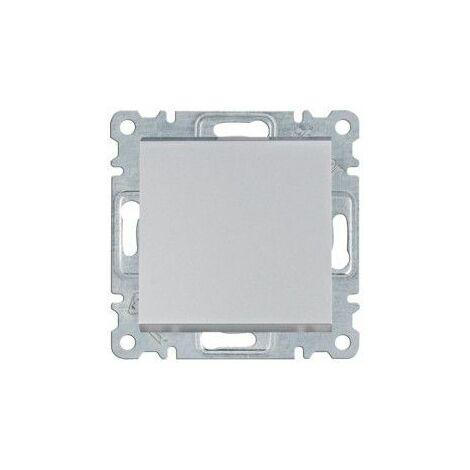 Pulsador Hager Lumina Intense WL0112 color Plata