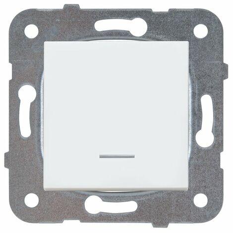 Pulsador luminoso 10AX Panasonic Viko WKTT01172WH Karre Plus Blanco