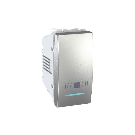 Pulsador Luz LED localizacion Aluminio SCHNEIDER MGU3.106.30CNL