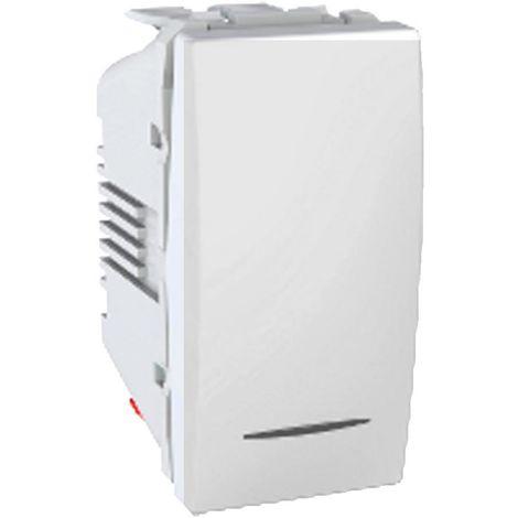 Pulsador Luz LED localizacion Aluminio SCHNEIDER MGU3.106.30LNL
