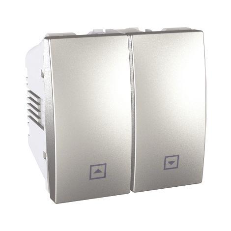 Pulsador persianas 2 mod Unica Aluminio SCHNEIDER ELECTRIC U3.207.30