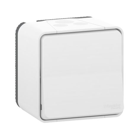 Pulsador superficie IP55 Blanco SCHNEIDER ELECTRIC MUR39026