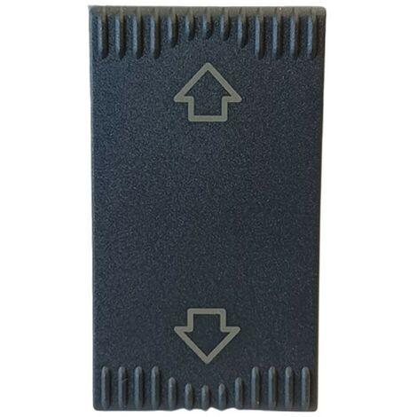 Pulsante commutatore 1P 10A con frecce per serie civile Ave Noir Sistema 45 45553