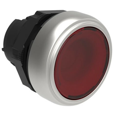 Pulsante luminoso Rasato rosso lovato Platinum ad impulso LPCBL104