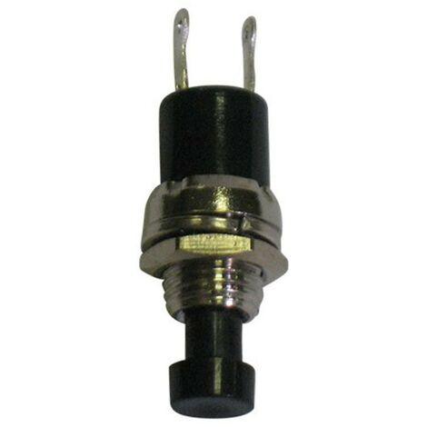 Pulsante Melchioni miniatura unipolare nero OFF-(ON) 1A-125V 433329782