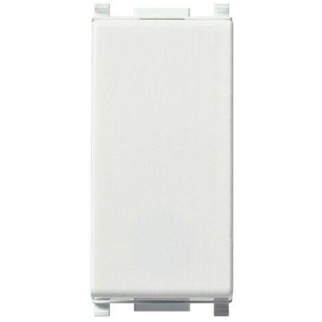 Pulsante Vimar Plana 1X10A NC bianco illuminabile 14010