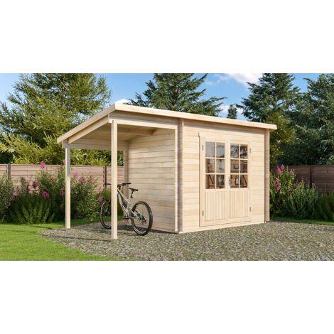 Pultdach Gartenhaus Modell Martina-28 mit Schleppdach, ohne ...