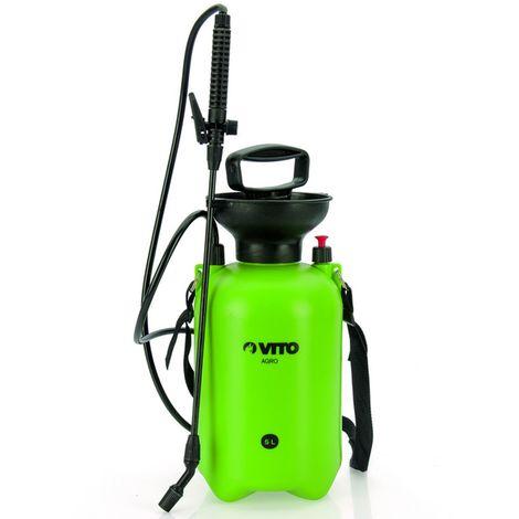 Pulvérisateur 5L VITO lance 36cm poignée Tuyau 1.20m pression manuelle Spray et Jet Végetaux et Jardins