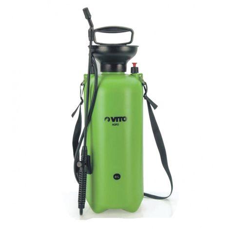 Pulvérisateur 8 L VITO lance 60cm poignée tuyau 1.20m pression manuelle Spray et Jet - Vert