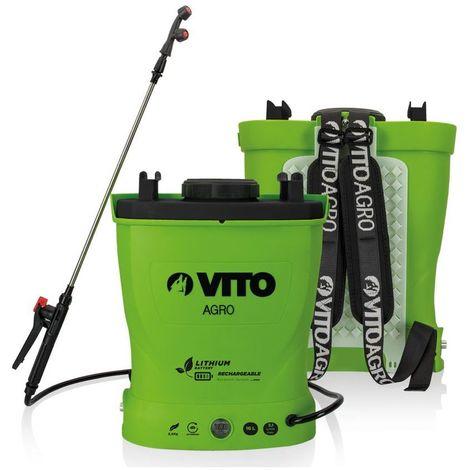 Pulvérisateur à batterie Lithium VITO 12V/6AH 16L 6 bars Autonomie 4h Poids léger Chargeur inclus Végetaux jardin toitures