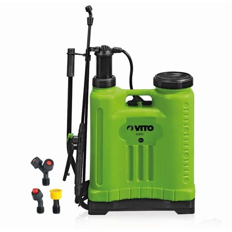 Pulvérisateur à dos 12L VITO pression manuelle Spray et Jet Végetaux et Jardins accessoires 3 buses