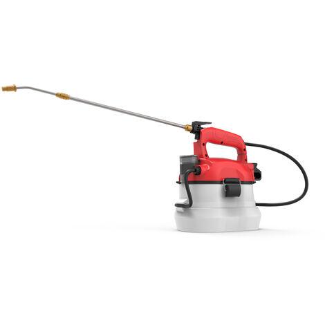 Pulverisateur a dos a long manche Pulverisateur d'arrosage d'arrosage agricole domestique portable electrique peut pulveriser un spray desinfectant Standard europeen 220V livreavec batterie rouge ET1709
