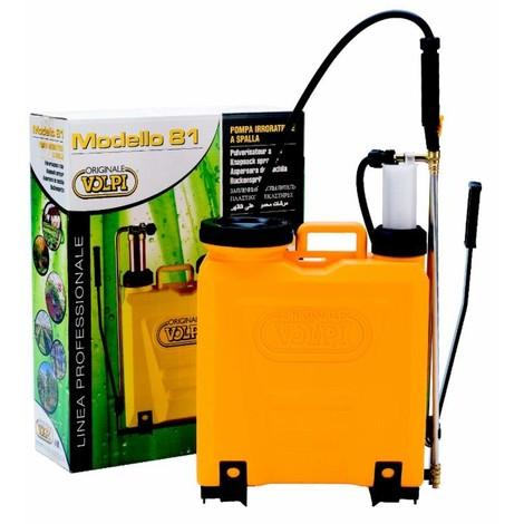 Pulvérisateur à dos professionnel 15 L pompe plastique Volpi