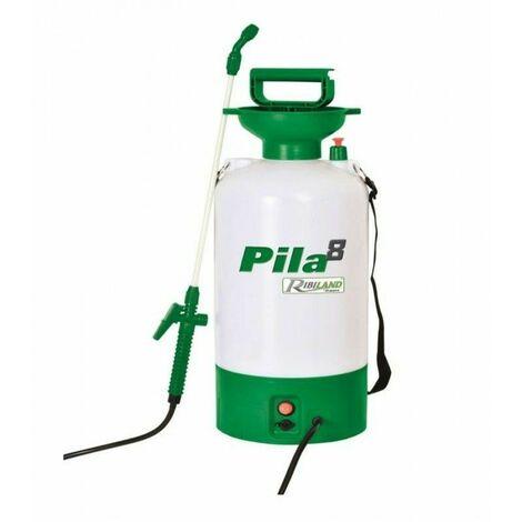 Pulverisateur electrique 8 litres. Batterie 12 V - 1,3 Amp. Chargeur 220-240V ~ 50/60 Hz. 12 V - 1000 mA - Ribimex