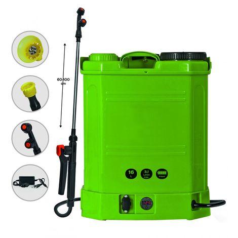 Pulvérisateur électrique rechargeable 16Litres 4 bars 4 h Autonomie Chargeur + 3 buses incluses