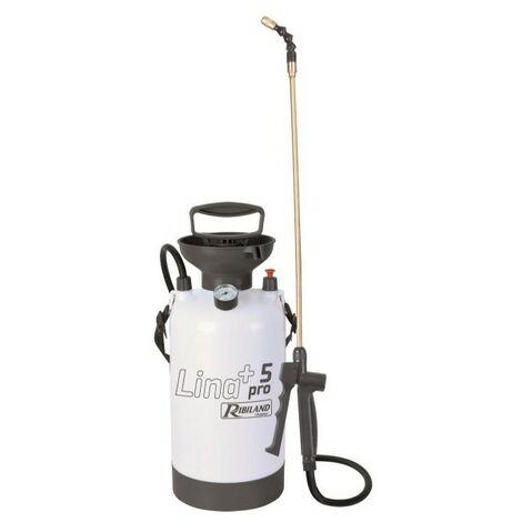 Pulvérisateur LINA+PRO5 à pression préalable 5 L, GS, avec manomètre - PRP053P+ - Ribiland - -