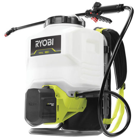 Pulverizador de mochila RYOBI 18V One Plus 15L - 3,8 barras - Sin batería ni cargador - RY18BPSA-0