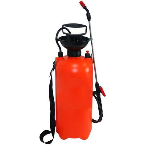 Pulverizador Fumigador a Presión Mochila 8 LITROS Manual con Lanza para Limpieza, Jardín y Hogar - Correa Ajustable