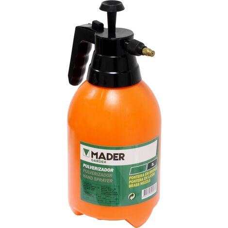 Pulverizador sulfatador manual a presión 2 litros con boquilla de latón (Mader Garden EP20)