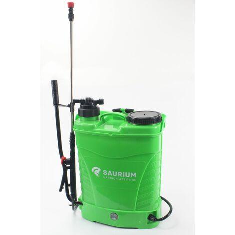 Pulverizador de Presion 16L, 12V, 8A, 2 en 1- Bateria / Manual - c/ regulador - SAURIUM ®