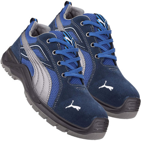 Puma 643610 Omni Sky Low Safety Trainer - Blue/White Size 8