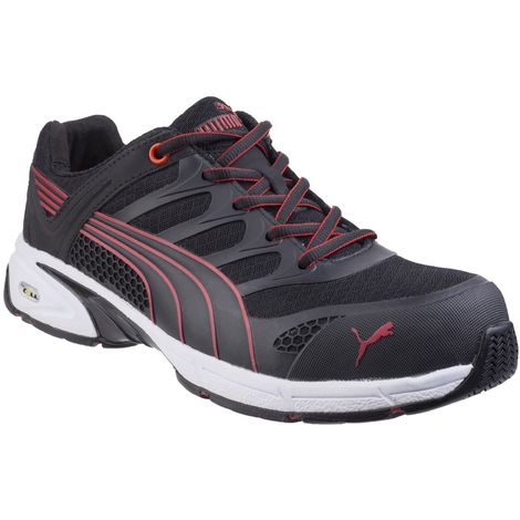 Puma Safety Mens Fuse Motion Trainers (7.5 UK) (Black/Red)