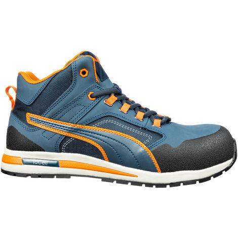 separation shoes 26185 b39d0 PUMA Sicherheitsschuhe Arbeitsschuhe Crosstwist MID S3 633140 blau/orange  (Größen: Gr. 47)