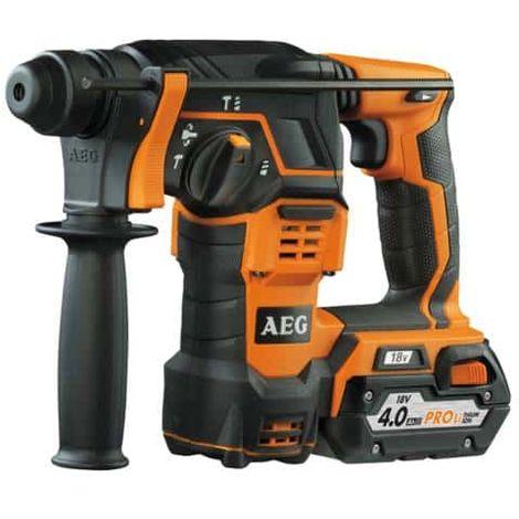 Puncher Meiel SDSPLUS AEG 18V - 4.0Ah Batterie 2 - 1 Ladegerät 80min - BBH 18 Li-402C