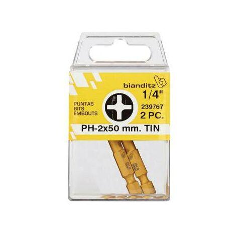 Punta Atornillar Philips 1/4 Tin (2 Uds) Bianditz 3 X 50 Mm