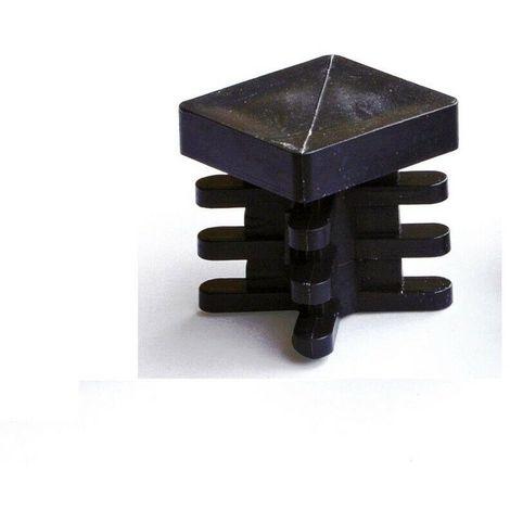 Gommini Per Sedie Tubolari.Puntale Alettato 30x30mm Gommino Quadro Interno Plastica Tappo