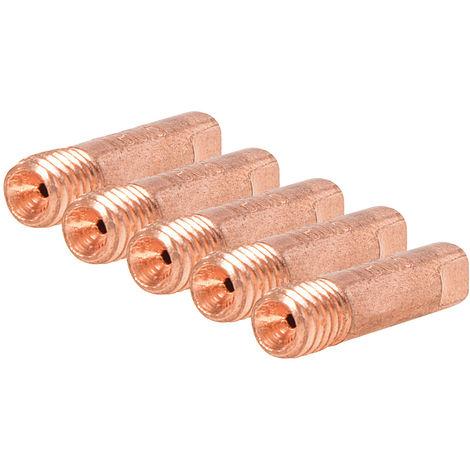 Puntas de contacto M6 para soldador MIG, 5 pzas ø0,8 mm - NEOFERR